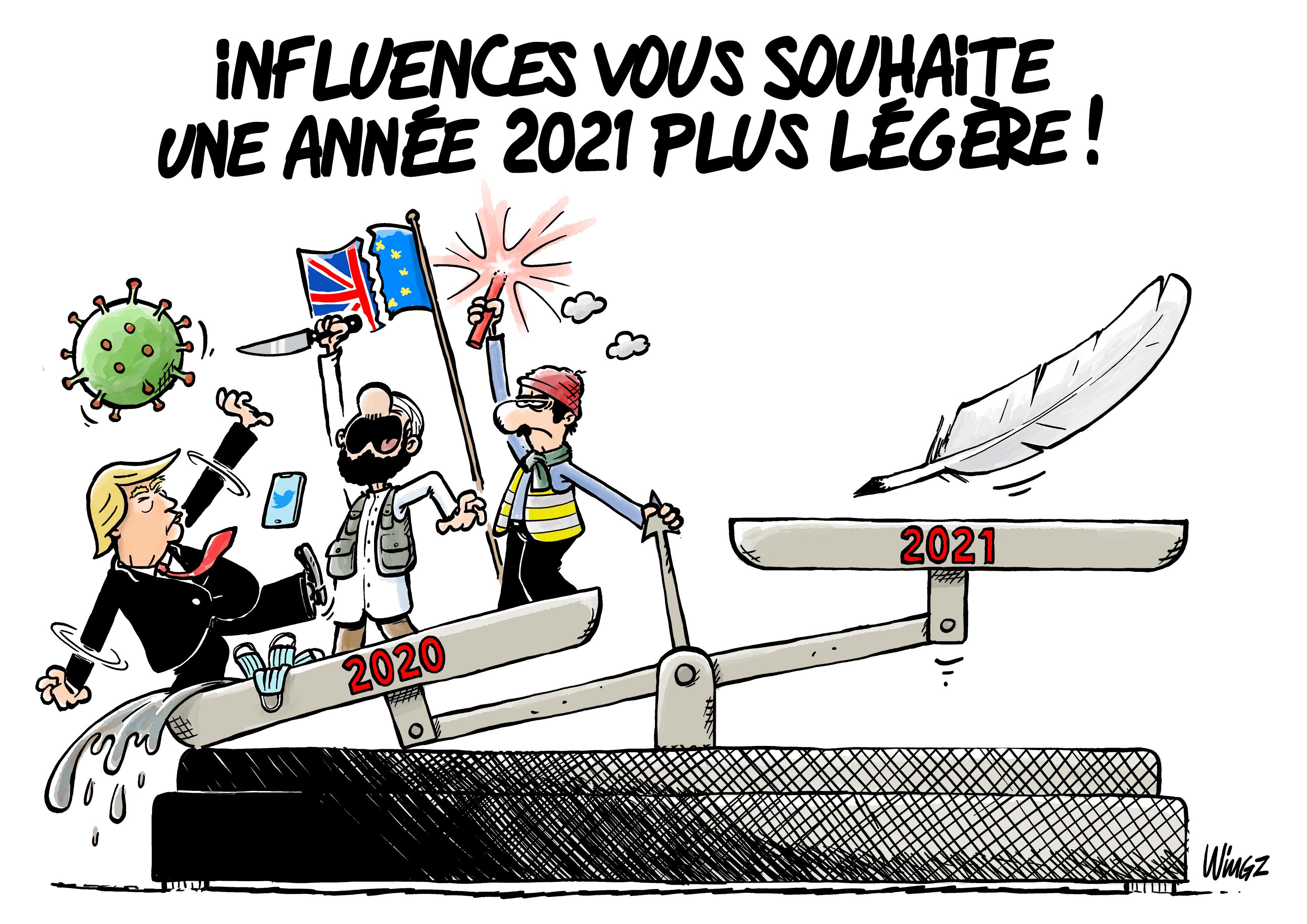 INFLUENCES VOUS SOUHAITE UNE ANNEE 2021 PLUS LEGERE